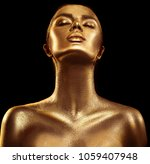 fashion art golden skin woman... | Shutterstock . vector #1059407948