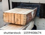the log  sawn to the board ... | Shutterstock . vector #1059408674