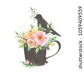 watercolor illustration.... | Shutterstock . vector #1059409559