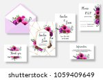 floral wedding invitation thank ... | Shutterstock .eps vector #1059409649