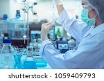 laboratory scientist working at ... | Shutterstock . vector #1059409793