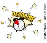 deadline concept illustration... | Shutterstock .eps vector #1059411020