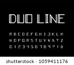 modern contemporary font. thin... | Shutterstock .eps vector #1059411176