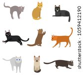 cartoon different types cute... | Shutterstock .eps vector #1059412190