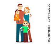 cartoon family characters... | Shutterstock .eps vector #1059412220