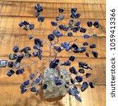 crystal stone gemstone tree on... | Shutterstock . vector #1059413366