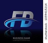 initial letter fd logotype...   Shutterstock .eps vector #1059415214