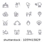 circus icons set in linear... | Shutterstock .eps vector #1059415829