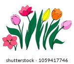collection of flowers of the... | Shutterstock .eps vector #1059417746