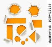 torn paper background. vector... | Shutterstock .eps vector #1059419138