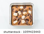 chocolate brownies on white... | Shutterstock . vector #1059423443