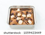 chocolate brownies on white... | Shutterstock . vector #1059423449