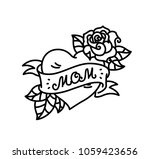 a tattoo with the inscription... | Shutterstock .eps vector #1059423656