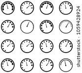 speedometer icon set | Shutterstock .eps vector #1059428924