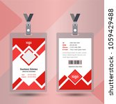 user id card realistic set with ... | Shutterstock .eps vector #1059429488