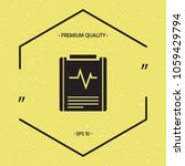 electrocardiogram symbol icon   Shutterstock .eps vector #1059429794