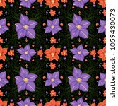 illustration of seamless floral ...   Shutterstock . vector #1059430073