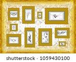 illustration of golden frames...   Shutterstock . vector #1059430100