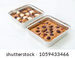 chocolate brownies with... | Shutterstock . vector #1059433466