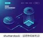 mining bitcoin and ethereum... | Shutterstock .eps vector #1059436913