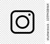 web icon. photo camera icon on... | Shutterstock .eps vector #1059438464