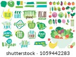 set of icons for eat right...   Shutterstock .eps vector #1059442283