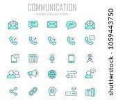 collection of communication... | Shutterstock .eps vector #1059443750
