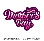 happy mother's day text with... | Shutterstock .eps vector #1059449204