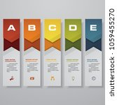 design clean number banners...   Shutterstock .eps vector #1059455270