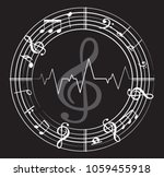 music note back ground with... | Shutterstock .eps vector #1059455918