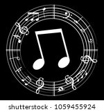 music note background with... | Shutterstock .eps vector #1059455924