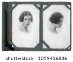 portrait of young woman in 1934 | Shutterstock . vector #1059456836