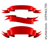 collection of red empty ribbon... | Shutterstock . vector #1059461750