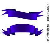 blue satin ribbons on a white... | Shutterstock . vector #1059462014