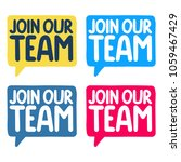 join our team. set of vector... | Shutterstock .eps vector #1059467429