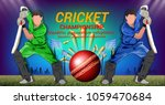 cricket  concept of sportsman...   Shutterstock .eps vector #1059470684