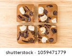 blondie cake with marshmallow... | Shutterstock . vector #1059471779