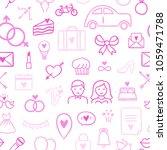 seamless wedding pattern. pink... | Shutterstock .eps vector #1059471788