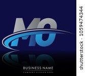 initial letter mo logotype...   Shutterstock .eps vector #1059474344