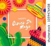 happy cinco de mayo greeting...   Shutterstock .eps vector #1059476438