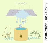 rainwater harvesting for...   Shutterstock .eps vector #1059476918