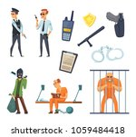 criminal characters and... | Shutterstock .eps vector #1059484418