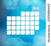 august 2018. calendar planner... | Shutterstock .eps vector #1059486443