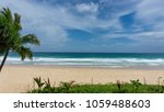beautiful sea and blue sky with ... | Shutterstock . vector #1059488603