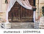 Rustic Wedding Photo Zone....
