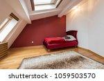 bedroom interior in luxury red... | Shutterstock . vector #1059503570