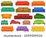 sofa chair room couch mockup... | Shutterstock .eps vector #1059509510