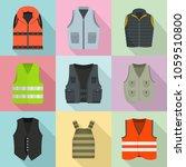 vest waistcoat jacket suit... | Shutterstock .eps vector #1059510800