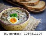 zurek   polish easter soup with ...   Shutterstock . vector #1059511109