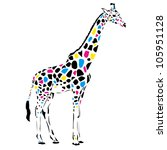 vector giraffe abstract... | Shutterstock .eps vector #105951128